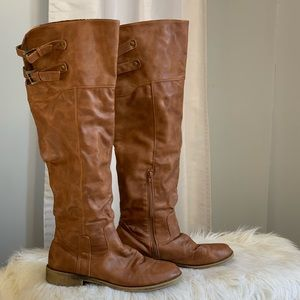 Qupid brown knee high boots shoes size 10